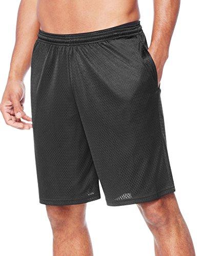 Hanes Men's Sport Mesh Pocket Short, Ebony, Large