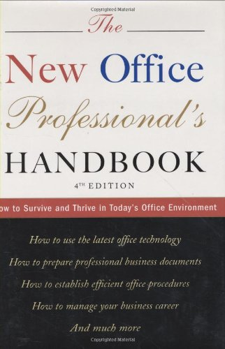 Houghton Mifflin 0618036083 New Office Professional's Handbook, Hardcover, 496 pages