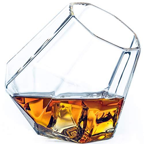 Dragon Glassware Diamond Whiskey Glasses, 10-Ounce, Set of 2