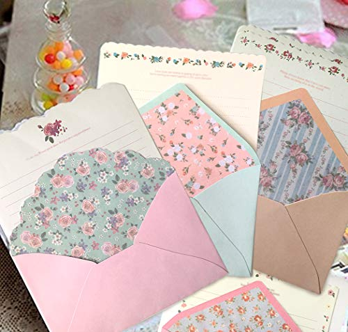 SCStyle 32 Cute Kawaii Lovely Special Design Writing Stationery Paper with 16 Envelope - 32 Letter paper (7.1x5.2 inch) by SCStyle