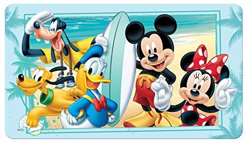 Disney Mickey Mouse'Summer Fun' Decorative Bath Mat, Blue