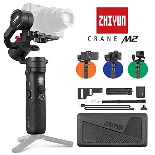 Zhiyun Crane-M2 3-Axis Handheld Gimbal Stabilizer for Mirrorless Cameras, Smartphones & Action Cameras