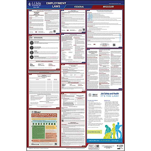 2020 Missouri State and Federal Labor Law Poster (English, MO State) - OSHA Compliant All-in-One Laminated Poster - Includes FFCRA Poster