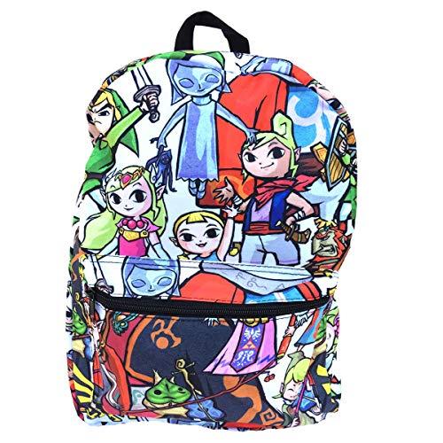 Legend of Zelda Breath of The Wild Backpack Nintendo Anime Chibi Link Backpack for Kids