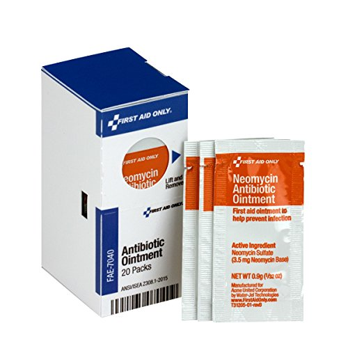 First Aid Only FAE-7040 SmartCompliance Refill Antibiotic Ointment, 20 Count