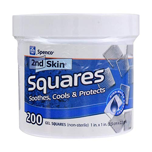 Spenco 2nd Skin Squares Soothing Protection, Gel Squares 200-Count, Bacterial Barrier, One Size