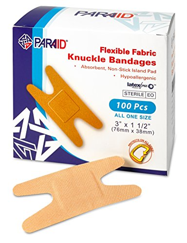 Flexible Fabric Bandages - Flex Fabric Adhesive Bandages Knuckle Bandages for Finger Careand to Protect Wounds from Infection - (100 Count Box)