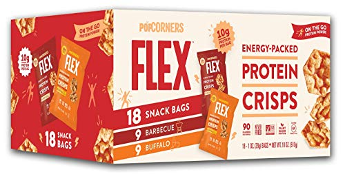 PopCorners Flex Protein Chips Variety Pack | Plant-Based Protein, Gluten Free, Keto Friendly Snacks | (18 Pack, 1 oz Snack Bags)