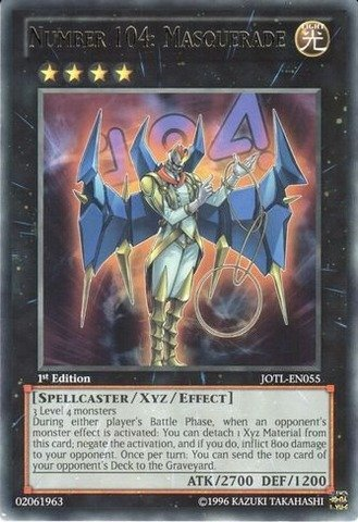 YU-GI-OH! - Number 104: Masquerade (JOTL-EN055) - Judgment of The Light - 1st Edition - Rare