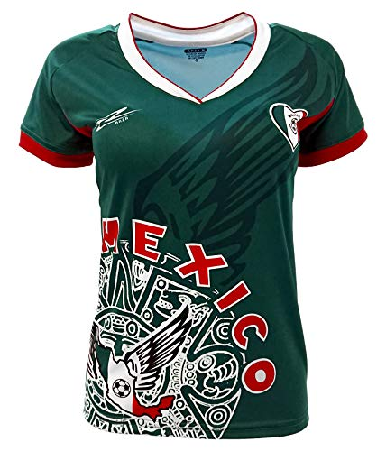 Arza Sports Mexico Womens Soccer Jersey Exclusive Desin (Small, Green)