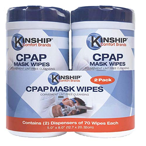 CPAP Mask Cleaning Wipes (140 Count 2-70 Count Packs) Convenient Lint Free Cleansing. Easy Opening top