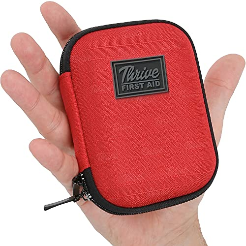 First Aid Kit – 66 Pieces – Small & Light Soft Shell Case - Packed with Hospital Grade Medical Supplies for Emergency & Survival situations. Ideal for Car, Camping, Travel, Sports, Home, Hiking