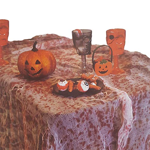 Bloody Gauze Halloween Zombie Table Party Decoration, Haunted House, Spook Alley