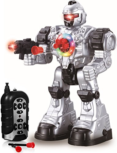 Play22 Remote Control Robot Toy - Robots for Kids Superb Fun Toy - Toy Robot Shoots Missiles Walks Talks & Dances with Flashing Lights 10 Functions - Best RC Robot Gift for Boys and Girls -Original