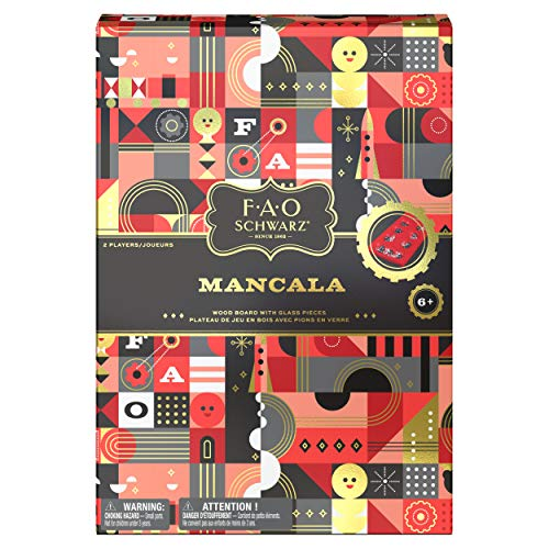FAO Schwarz Mancala Game with Folding Wood Board, Strategy Game, for Adults and Kids Ages 6 and up