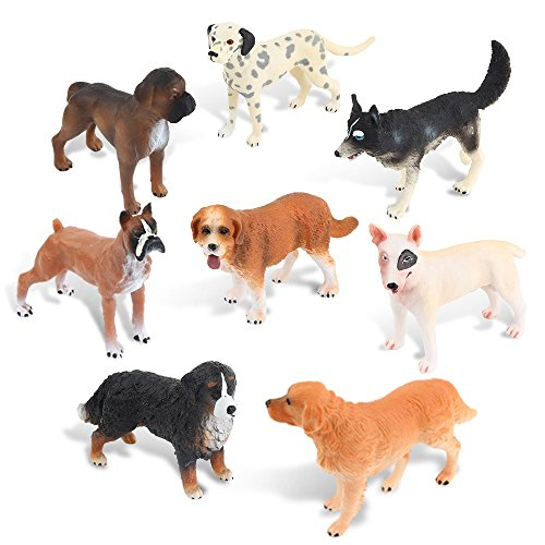 Ericoo Animal Toys Set Figurines Educational Resource Hand Painting Realistic Dogs Figures for Toddler with CPC Certifcate and ASTM Test -Anim008