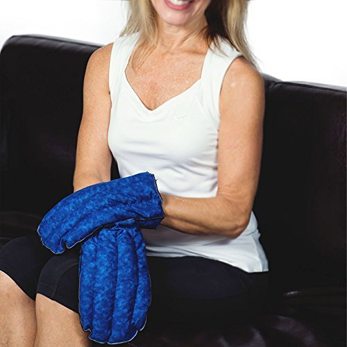 Kozy Collar Microwavable Heating Mittens for Hand and Fingers to Relieve Arthritis, Pains and Soreness – Natural, Safe and Reusable … (Small - Medium, Blue)