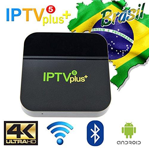 2019 IPTV 5ª Plus GERAÇÃO 270+ canais de TV, muitos deles em recursos HD, Bluetooth, Android e muitos canais de entretenimento, Infantil, esportes, filmes e séries (IPTV5 + Plus Green Edition)