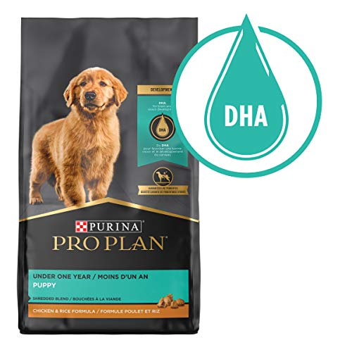 Purina Pro Plan With Probiotics, High Protein Dry Puppy Food, Shredded Blend Chicken & Rice Formula - 18 lb. Bag