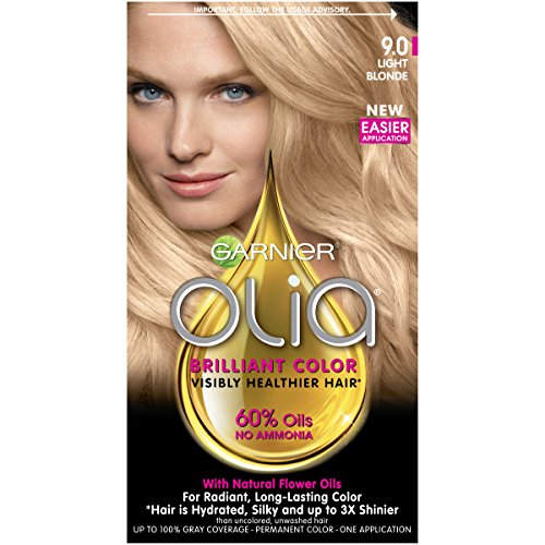 Garnier Olia Ammonia-Free Brilliant Color Oil-Rich Permanent Hair Color, 9.0 Light Blonde (1 Kit) Blonde Hair Dye