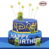 Teenage Mutant Ninja Turtles Series 2 3' Action Figure Toys of 4pcs TMNT/ ninja turtle party supplies,Birthday Present and Cake top Decoration