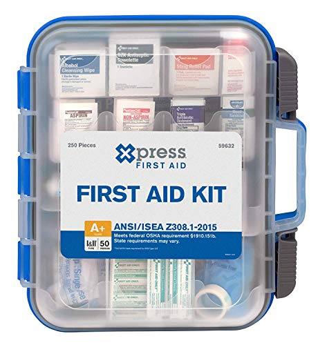 Xpress First Aid 250 Piece First Aid Kit, ANSI/OSHA Compliant