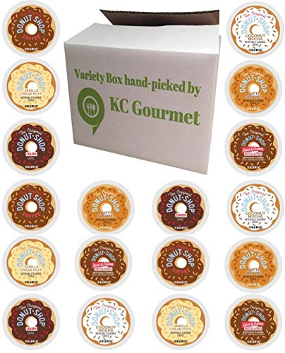 24 Count - Variety pack of The original Donut House Coffee K Cups for All Keurig K Cup Brewers - (6 flavors, NO DECAF, 4 K cups each flavor)