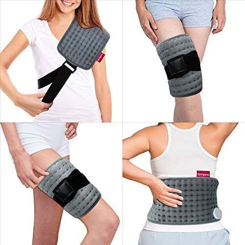 Wrapping Heating Pad for Pain Relief, Comfytemp Electric Heating Pad with Strap(Up to 63'), 3 Heat Settings, 1.5 Hour Auto-Off,Heating Wraps for Shoulders, Joints, Back, Legs, Wasit, Lumbar - Washable