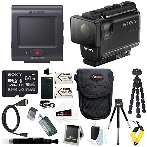 Sony HDR-AS50R Full HD 1080p Action Cam Camcorder w/ 64GB SD Card & Battery Pack Bundle