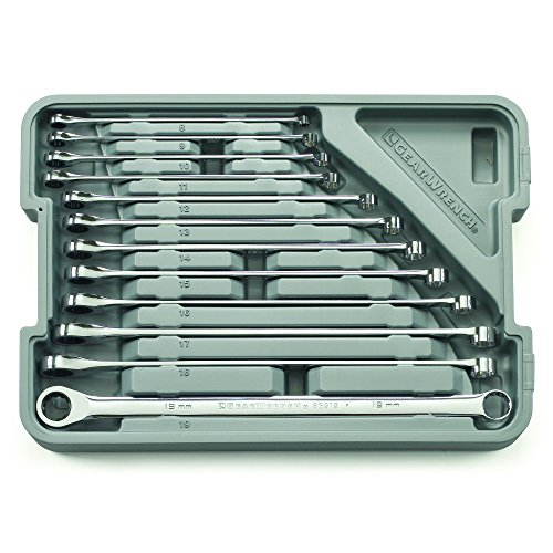 GEARWRENCH 12 Pc. GearBox 12 Pt. XL Ratcheting Double Box Wrench Set, Metric - 85988
