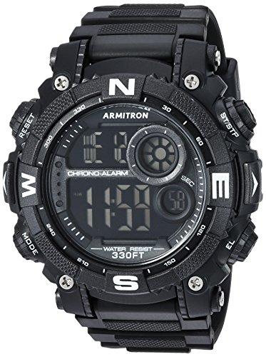 Armitron Sport Men's 40/8284BLK Digital Chronograph Black Resin Strap Watch