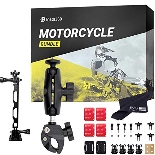 Insta360 Motorcycle Bundle - Complete Mounting Kit for Insta360 ONE R 360 Cameras | Compatible with Insta360 ONE X, EVO and All GoPro Cameras