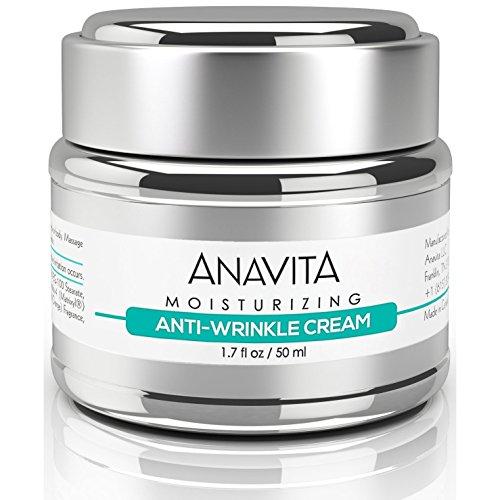 Anavita Moisturizing Anti Wrinkle Anti Aging Cream W/Peptide & Hyaluronic Acid - Day Night - Facial Fine Lines Wrinkles Elasticity Skin Tone - Face Neck Decollete Moisturizer for Women Men 1.7 fl oz