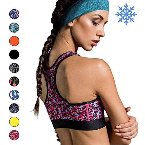 Cooling Headbands for Women & Men | Moisture Wicking Sweatband & Sports Headband | Stay Cool During Workouts Cycling Cardio Running Yoga Headband for Under Helmets & Hats