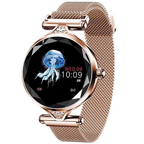 Pard New Women's Smart Watch, Elegant Heart Rate Blood Pressure Fitness Tracker, Gold