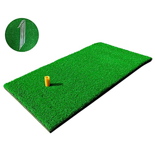 "RELILAC 12""x24"" Golf Hitting Mat with Rubber Tee Holder"