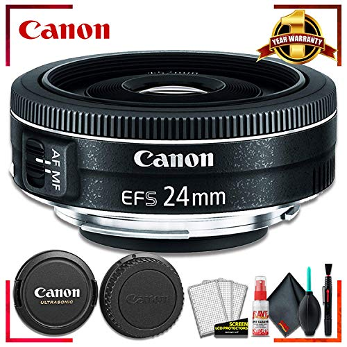Canon EF-S 24MM F2.8 STM Camera Lens (International Model) + Cleaning Kit