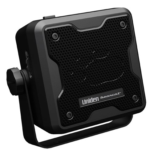 Uniden (BC23A) Bearcat 15-Watt Amplified External Communications Speaker. Durable Rugged Design, Perfect for Amplifying Uniden Scanners, CB Radios, and Other Communications Receivers, Black