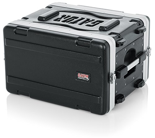 Gator Cases Lightweight Molded 6U Rack Case with Heavy Duty Latches; Shallow 14.25' depth, 6U (GR-6S)