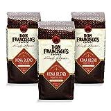Don Francisco's Whole Bean Kona Blend, Medium Roast Coffee (3 x 12-ounce bags)