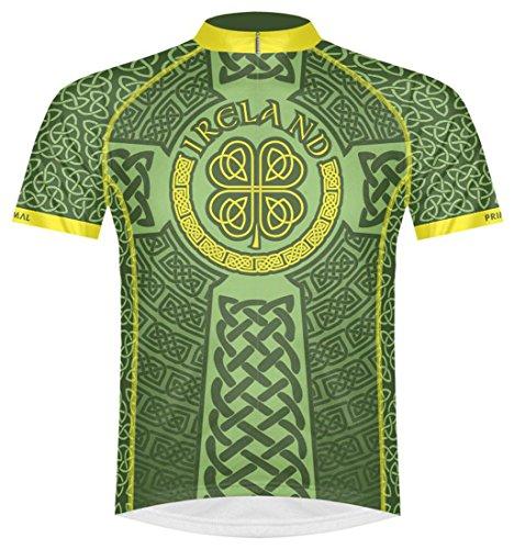 Primal Wear Ireland Celtic Knot Cycling Jersey Men's Medium Short Sleeve Irish Green