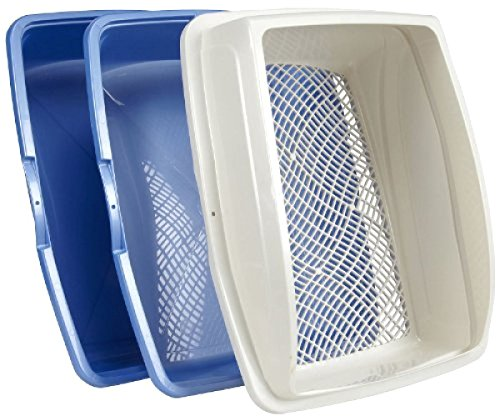SKEMIX Sifting Cat Pan Litter Box with Frame Kitty Van Ness CP5 Easy Clean:New