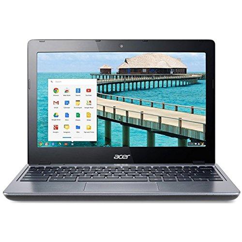 Acer C720-2844 11.6' Google Chromebook Laptop Intel Celeron 2955U Dual Core 1.4GHz 4GB RAM 16GB SSD - Gray