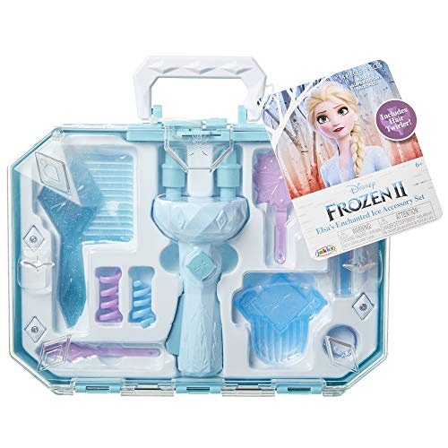 Frozen 2 Elsa's Hair Twirler Vanity Accessory Set - Twist and twirl hair to create fun hairstyles! Easy Hair Design Braiding Tool Machine DIY Hair Tool - For Girls Teens Kids ages 3+