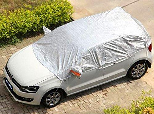 Kadooria Safe View Half Car Cover Top Waterproof/Windproof/Dustproof/Windshield Cover Snow Winter Summer (SUV YL(185'-197'))