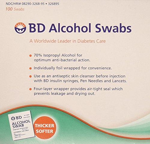 BD Regular Alcohol Swabs, 100 ct ( Pack of 2 )