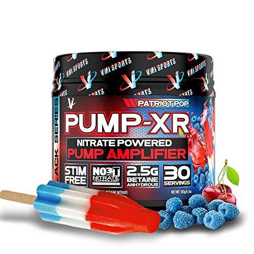 VMI Sports Black Series Pump-XR Nitrate Powdered Dietary Supplement, 30 Servings, Patriot Pop