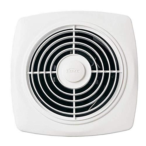 Broan-NuTone 509 Through-the-Wall Ventilation Fan, White Square Exhaust Fan, 7.5 Sones, 180 CFM, 8'