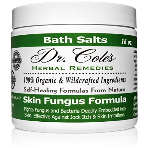 Dr. Cole's Organic Anti-fungal Skin Soaking Salts – Extra Strength, Herbal, Anti-fungus Treatment for Skin Fungus Infections and Jock Itch – Disinfects & Repairs Infected Skin