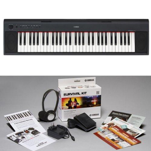 Yamaha NP-11 KIT   Piaggero 61-Key Portable Digital Piano with Surivival Kit D2